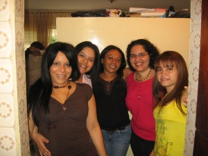 My beautiful cousins in Caracas and myself