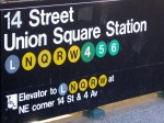 Union Square Station Sign