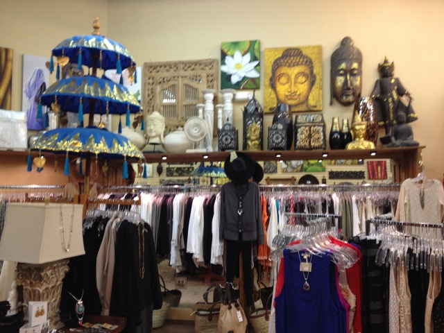 Clothing, Buddhas, and more.