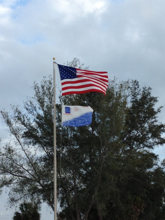 Flags flying high...